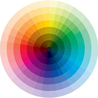 Spectrum Color Wheel with Graduation from Black to White Art Print Laminated Dry Erase Sign Poster 12x18