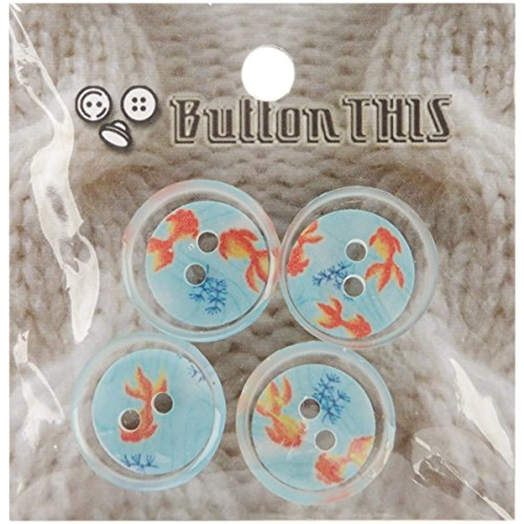 ButtonTHIS Novelty Buttons, 1-Inch, Koi Pond, 4-Pack