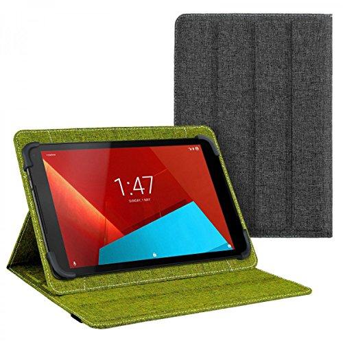 eFabrik Cover für Vodafone Tab Prime 7 Tasche 10.1 Zoll Schutz Hülle Book Hülle Schutzhülle Schutztasche grün grau
