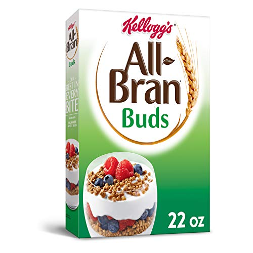 Kellogg's All-Bran Buds, Breakfast Cereal, Wheat Bran, Excellent Source of Fiber, 22oz Box