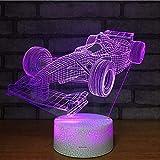 Fórmula 1, Carreras, Ilusión 3D, Lámpara, Cambio De Color,...