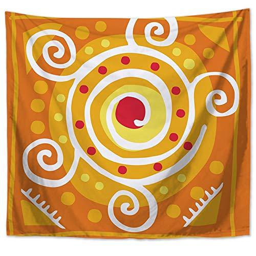 KHKJ Patrón geométrico Mandala Tapiz de Pared Decoraciones para el hogar Colgante de Pared Estilos Bohemios Tapices para Sala de Estar Dormitorio A13 150x130cm