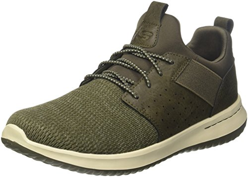 Skechers Men 65474 Trainers, Green (Olive), 9.5 UK (44 EU)