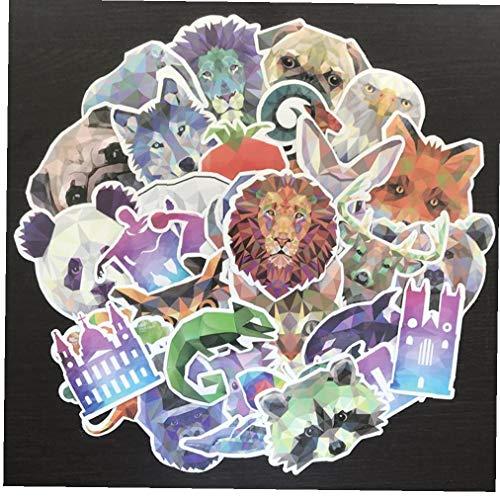 Hotaden 35pcs Animal Stickers Mixtos Divertido para Cuaderno del Ordenador Portátil De Coches Bicicletas Mochila Impermeable De La Etiqueta Engomada