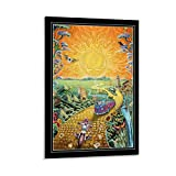 CHUNLV Fantasy Grateful Dead - Golden Road Poster Decorative Painting Canvas Wall Art Living Room Posters Bedroom Painting 12x18inch(30x45cm), Frame-style1