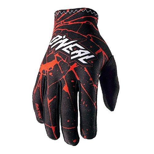 O\'Neal Matrix Handschuhe Enigma Schwarz Rot MX MTB DH Motocross Enduro Offroad, 0388M-3, Größe S