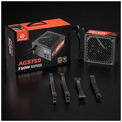 ARESGAME AGS750 750W Semi Modular 80+ Oro Certificado PC Poder Suministro 7