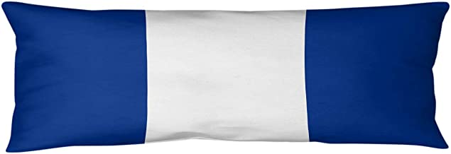 ArtVerse NFS Seattle Throwback Football Stripes Body Pillow (w/Removable Insert), 20 x 54, Blue and White