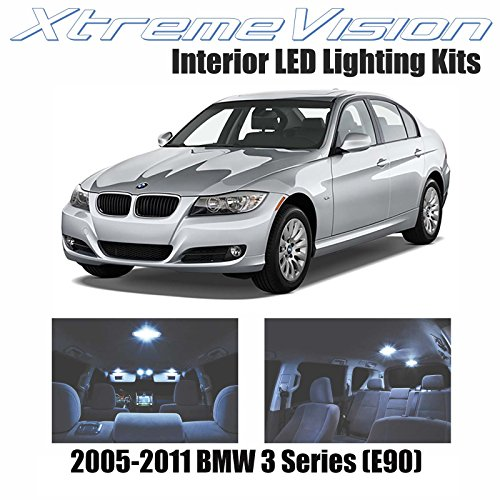XtremeVision LED for BMW 3 Series (E90) 2005-2011 (11 Pieces) Cool White Premium Interior LED Kit Package + Installation Tool