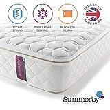 Summerby Sleep' No4. Pocket Spring and Memory Foam Pillow-top Mattress | King Size: 150cm x 200cm