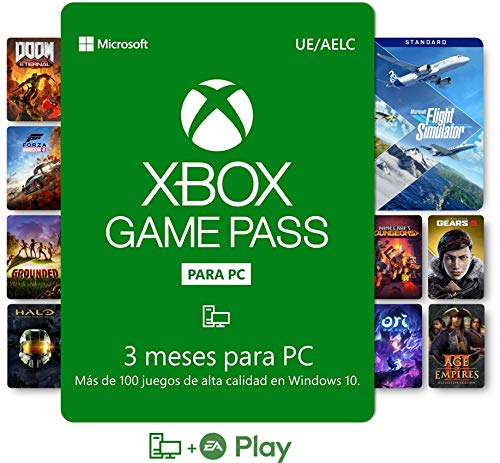 Suscripción Xbox Game Pass para PC - 3 Meses | Windows 10 PC - Código de descarga