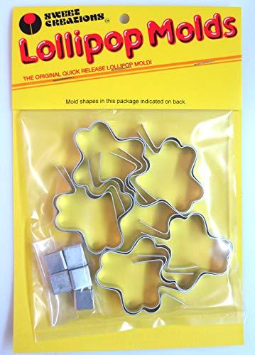 SWEET CREATIONS 10pc SHAMROCK Aluminum Metal Lollipop Sucker Candy Mold Set