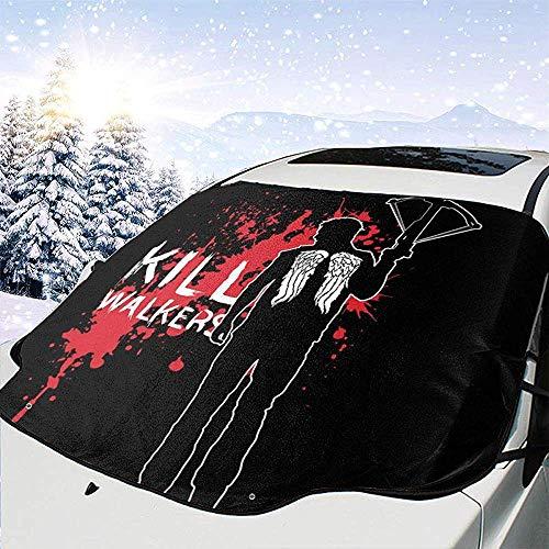 MaMartha Car Windshield Snow Cover Die Walk Dead Daryl Armbrust Auto Windschutzscheibe Schneedecke, Eisentfernung Sonnenschutz, Universal Fit
