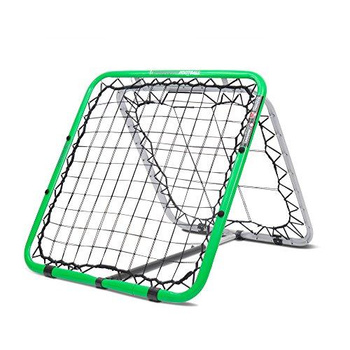 Crazy Catch Fußball-Rückprallnetz, doppelseitig, Premium-Qualität, unberechenbare Sprungkraft, Trainingshilfe, Volleys, Kopfbälle, Torhüter