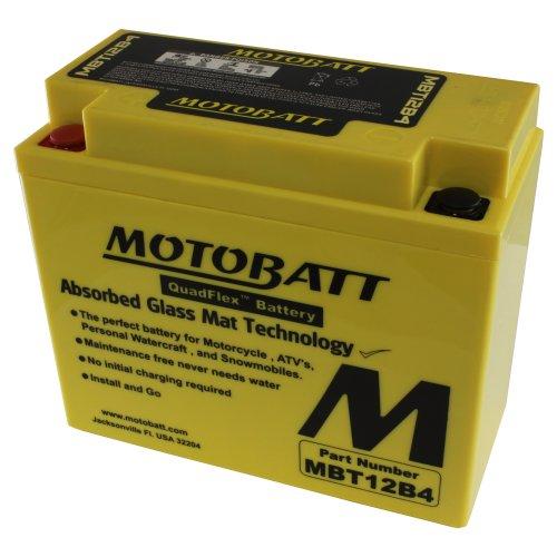 MotoBatt MBT12B4 (12V 11 Amp) 175CCA Factory Activated QuadFlex AGM Battery