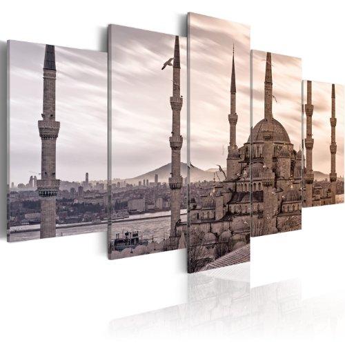 murando - Bilder Architektur 200x100 cm Vlies Leinwandbild 5 TLG Kunstdruck modern Wandbilder XXL Wanddekoration Design Wand Bild - Stadt Türkei Istanbul Panorama 030102-11