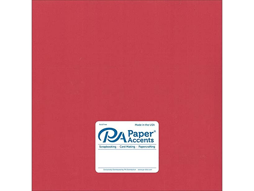 Accent Design Paper Accents Cdstk Smooth 12x12 74# Grenadine