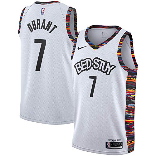 Kevin Durant Brooklyn Nets #7 Youth 8-20 White City Edition Swingman Jersey (Small)