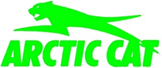 MFX Design Arctic Cat Sticker Decal for Phone Clear Background Helmet Laptop Hard Hat Sticker Decal Vinyl - Made in USA 2.5 in. x 1.25 in.