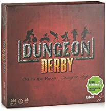 Deluxe Dungeon Derby - Family Friendly Strategy Board Game - Deluxe Edition Includes 6 Premium Miniature Figures