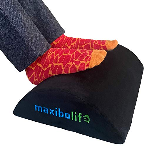 Maxibolife Foot Rest for Under Desk - Feel The Comfort | Perfectly Designed Premium Foam Ergonomic Footrest for Under Desk | Office Home Gaming Footrest | Non-Slip Bottom | Washable Footrest Cover