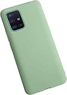 Moko Samsung Galaxy A51 Case Flexible Soft Lining Light Green