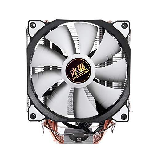 cojín de enfriamiento 4Pin CPU Cooler 6 Tubo De Calefacción Un Solo Ventilador De Refrigeración 12 Cm Ventilador LGA775 1151 115X 1366 Soporte Intel AMD para Laptop