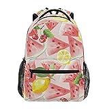 Mochila de sandía, cereza, limón, fruta, mochila de gran capacidad, casual, mochila de escuela, viajes, senderismo, para mujeres y hombres