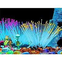 ACHICOO 水草 アネモネ 海 夜光 シミュレーション 水族館 水槽 風景 装飾 黄