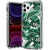 BICOL Pro, tropisches grünes Palmblätter-Muster, durchsichtiges Design, Kunststoff, harte Rückseite mit TPU-Stoßdämpfer, für Apple 5,8 Zoll (14,7 cm) 2019