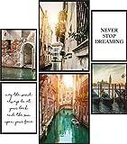 Papierschmiede® Mood-Poster Set Venedig | Bilder als