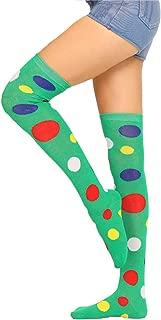 Girls women Over Knee High Socks Fun Colorful Polka Dot Costume Cosplay Stocking