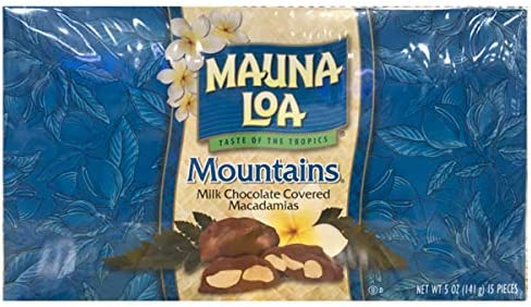 Mauna Loa Premium Hawaiian Roasted Macadamia Nuts Milk Chocolate Flavor 5 Oz Box Pack of 1 product image
