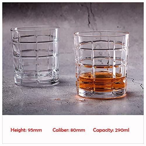 Kristallen Wijnglazen 260-310ml, Kristallen Wijn Bier Witte Geesten Vierkant Huishoudelijke Water Cup Whiskey Glas -100% Lood Gratis Kristal Glas Familie en Vrienden Verzamelingen Gebruik stijlnaam size A