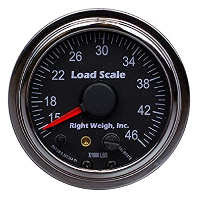 510-46-C Chrome Interior Analog Onboard Load Scale - For Tandem Axle Air Suspensions with One Height Control Valve - 7 Color LED from RIGHT WEIGH LOAD SCALES