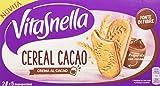 Vitasnella Cereal Crema - Biscotti ai Cereali con Farcitura al e Gusto Nocciola Cacao, 250 Grammi
