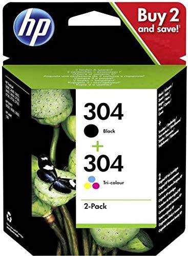 Original HP 304 Cartuchos de Tinta Negro y Color: Amazon.es ...