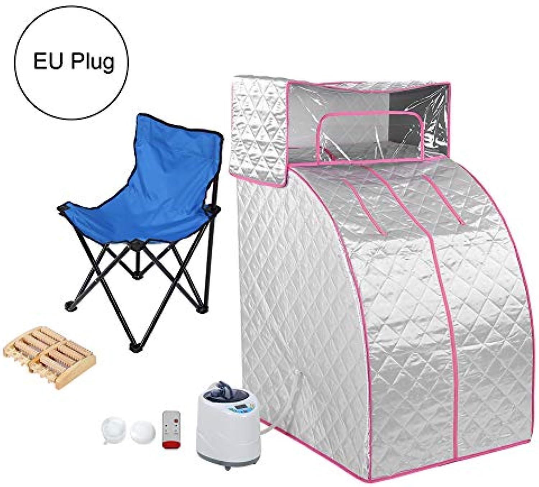 1000W Tragbare Sauna, 9 Temperatureinstellungen Dampfsauna 2L Sauna-zelt mit einem Faltbarer Stuhl und einem Massage-Werkzeug