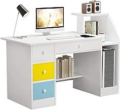 Computer Desk Home Office Desks with Shelf, Student Study Desktop Desk Laptop Table Modern PC Workstation Dormitory Study ...