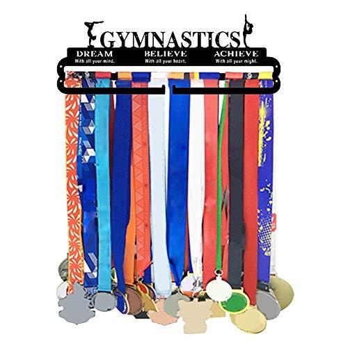 Exuberanter Medaillen Aufhänger, Gymnastik, Medaillenhalter Turnen, Eisen Kunst Medal Hanger Gymnastics, 48X17X0,2CM