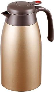 ZCXBHD 保温ポット、ステンレス鋼大容量家庭用やかん旅行ポータブル魔法瓶大容量2L (色 : ブラス ぶらす)