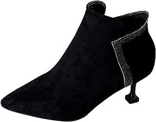 BRISEZZ vrouwen en dames herfst en winter vrije tijd Fashion Solid puntige schoen Thin Low Heel schoenen voor dagelijks ge...
