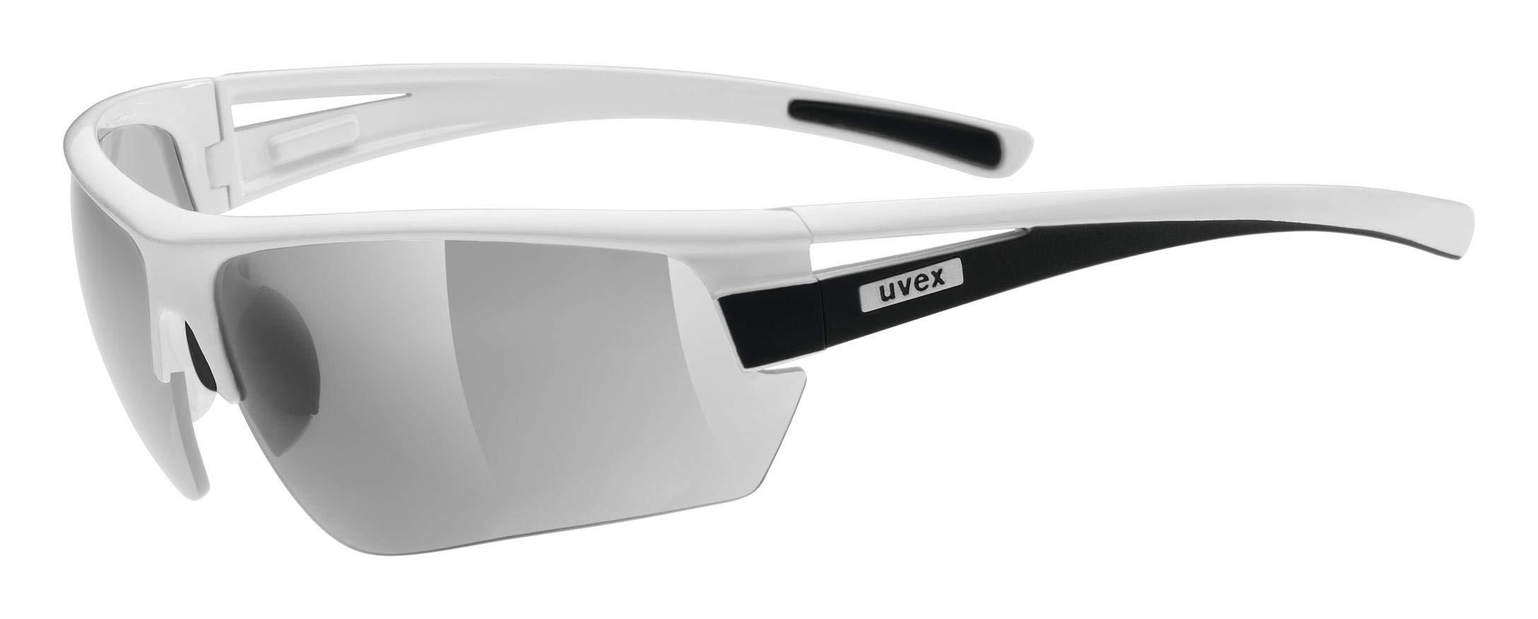 uvex Unisex– Erwachsene, gravic Sportbrille, inkl. Wechselscheiben, white bl