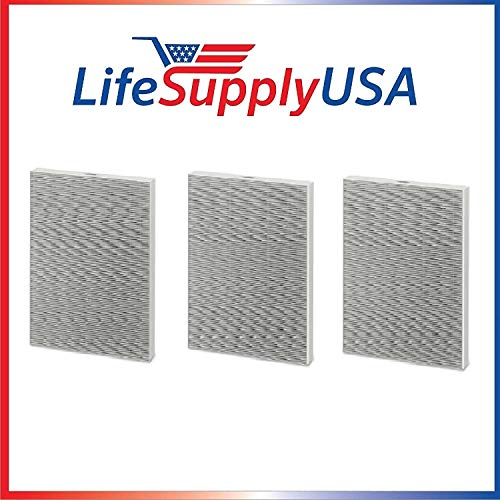 LifeSupplyUSA 3 Pack Replacement HEPA Filter Compatible with Winix 115115 / PlasmaWave WAC Air Purifiers, Size 21