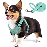 PAWDAY Dog Harness Soft Touch Suede Fabric Pet Vest Step in Adjustable Reflective No Pull Harness for Puppies, Small and Medium Dogs