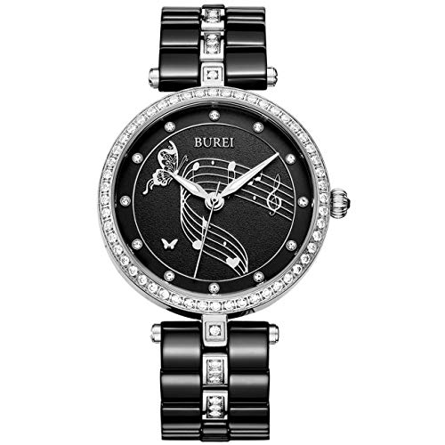 Top 10 Cheap Women's Watches That Look Expensive - BUREI Women's Elegant Watches Diamond Bezel with Ceramic Bracelet