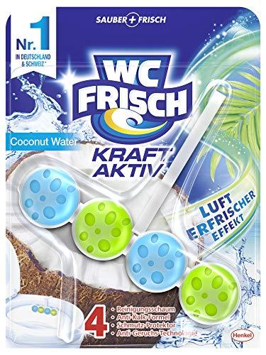 WC FRISCH Kraft Aktiv Duftspüler Coconut Water (1er Pack), WC Reiniger sorgt für Reinigung bei jeder Spülung, Duftsteine für langanhaltend frischen WC Duft