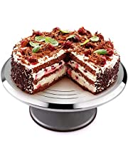 Uten Bandejas para Tartas de Acero Inoxidable Plato Giratorio de la Torta Soporte de Decoración de Pasteles 12 Inch