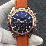 WAVFCSE Marke 007 Männer Sport Professionelle Taucheruhren Mode Edelstahl Orange Chronograph...
