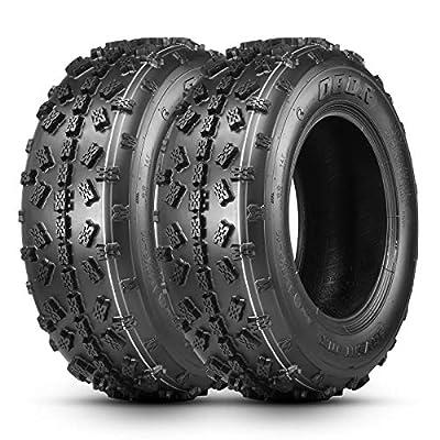 OBOR Advent MX ATV Tires 19X6-10, 4 Ply GNCC Race Tire, ATV Sport Tires, Tubeless(2 Pack)